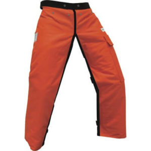 12 Layers Adjustable Waist Polyester Orange Full-Wrap Chain Saw Chaps 36 in